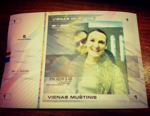 bankovka VILNIUS